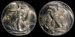 Us Coins - 1941 P Walking Liberty Half Dollar BU