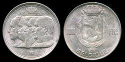 World Coins - 1950 Belgium 100 Franc (French Legend) UNC