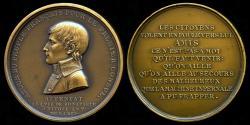 World Coins - 1800 France – Napoleon – Napoleon's Assassination Attempt Commemorative Medal by Henri Auguste