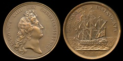 World Coins - 1670  France - Louis XIIII - Re-establishment of the Navy by Jean Mauger