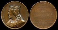 World Coins - 1839 France - King Eudes (Odo) by Armand Auguste Caque for the series Galerie Numismatique des rois de France #30