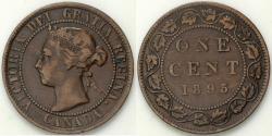 World Coins - 1895 Canada 1 Cent - Victoria - XF