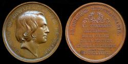 World Coins - 1838  Belgium - Charles Forbes René de Montalembert a French publicist, historian and Count of Montalembert, Deux-Sèvres by Julien Gabriel Leclercq