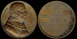 """World Coins - 1837 France - Jean le Bon (the good king) engraved by Amedee Durand, from the series """"Galerie Numismatique des rois de France"""" (1836-1839) by Armand Auguste Caque #51"""