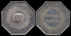 World Coins - 1829  France - Jeton - Sun Fire Insurance Company Created by order of King Charles X