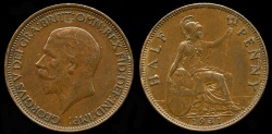 World Coins - 1931 Great Britain 1/2 Penny UNC
