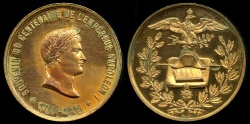 World Coins - 1869  France - Napoleon - Centenary of his birth