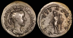 Ancient Coins - Gordian III Antoninianus - AEQVITAS AUG - Rome Mint