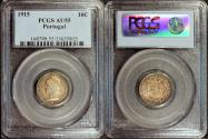 World Coins - 1915 Portugal 10 Centavos PCGS AU55