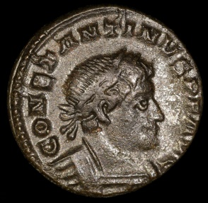 Ancient Coins - Constantine I Follis - SOLI INVICTO COMITI - London Mint