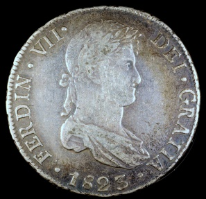 World Coins - 1823 PTS-PJ Bolivia 8 Real - Ferdinand VII - XF