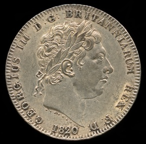 World Coins - 1820 LX Great Britain Crown UNC