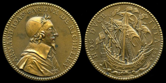 World Coins - 1634 France - Armand-Jean, Cardinal duc de Richelieu