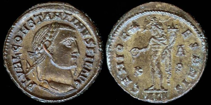 Ancient Coins - Constantine I Follis - GENIO CAESARIS - Alexandria Mint