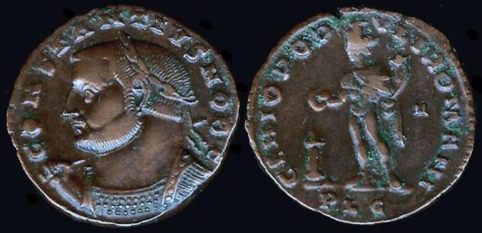 Ancient Coins - Constantius I Follis - GENIO POPVLI ROMANI - Lyons Mint