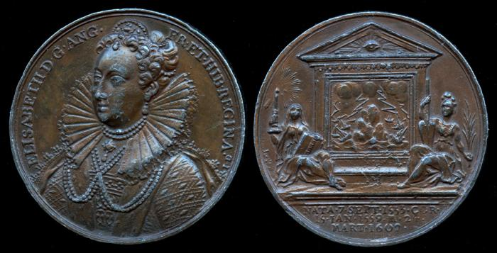 """World Coins - 1731 Great Britain – Queen Elizabeth I by Jean Dassier (From his series """"Kings and Queens of England"""")"""