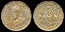 World Coins - 1939 Nicaragua 25 Centavos UNC