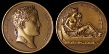 World Coins - 1813 France - Napoleon - Canal from Mons to Condé by Jean-Bertrand Andrieu and Nicolas Guy Antoine Brenet
