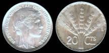 World Coins - 1942 So Uruguay 20 Centesimo BU