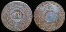 World Coins - 1835 R (no date) Brazil 40 Reis XF