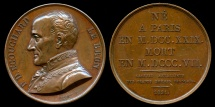 World Coins - 1821  France - Ponce Denis Écouchard Lebrun, a French lyric poet by Louis-Michel Petit for the Galerie Metallique des Grands Hommes Francais