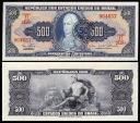 World Coins - 1967 Brazil 50 Centavos on 500 Cruzeiro - João VI - UNC