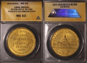 Us Coins - 1893 World's Columbian Exposition, Chicago Illinois (So-Called Dollar) ANACS MS63