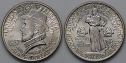 Us Coins - 1937 Roanoke Island, North Carolina 350th Anniversary Commemorative Silver Half Dollar (Only 29,030 were struck) - BU