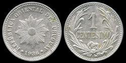 World Coins - 1936 A Uruguay 1 Centesimo UNC