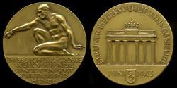 World Coins - 1913  Germany - Berlin Engineering Award Medal by Rudolf Bosselt