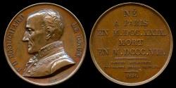 World Coins - 1821  France - Ponce Denis Écouchard Lebrun, a French lyric poet by Louis-Michel Petit for the Galerie Metallique des Grands Hommes Francais