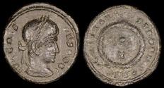 Ancient Coins - Crispus Ae3 - CAESARVM NOSTRORVM - Siscia Mint