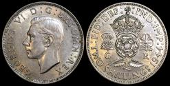 World Coins - 1944 Great Britain 1 Florin - George VI - UNC