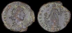 Ancient Coins - Valentinian II Ae3 - REPARATIO REIPVB - Aquileia Mint