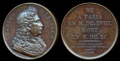 World Coins - 1818  France - Charles Le Brun - French painter and art theorist by Joseph Eugene Dubois for the Galerie Metallique des Grands Hommes Francais