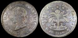 World Coins - 1859 PTS-FJ Bolivia 4 Soles AU