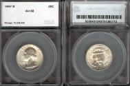Us Coins - 1947d Washington Quarter SEGS AU58