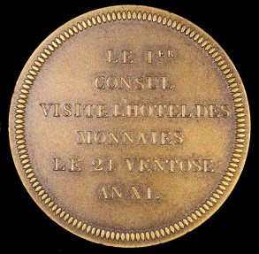 World Coins - 1802 France - Napoleon - Napoleon's Visit to the French Mint by Nicolas-Pierre Tiolier