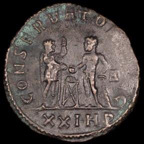 Ancient Coins - Maximianus Antoninianus - CONSERVATOR AVGG - Siscia Mint