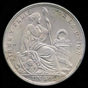 World Coins - 1924/824 Peru 1 Sol AU