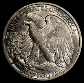 US Coins - 1941 D Walking Liberty Half Dollar BU
