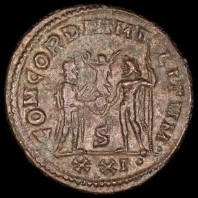 Ancient Coins - Maximianus Antoninianus - CONCORDIA MILITVM - Heraclea Mint