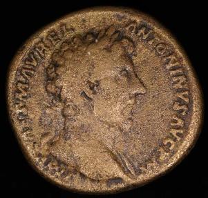 Ancient Coins - Marcus Aurelius Sestertius - CONCORD AVGVSTOR TR P XV - Rome Mint