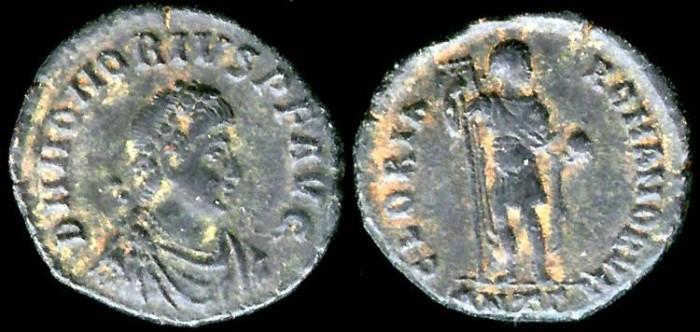 Ancient Coins - Honorius Ae2 - GLORIA ROMANORVM - Antioch Mint