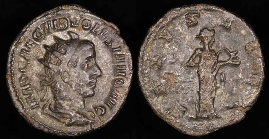 Ancient Coins - Volusian Antoninianus - SALVS AVGG - Rome Mint