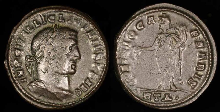 Ancient Coins - Licinius I Follis - GENIO CAESARIS - Heraclea Mint