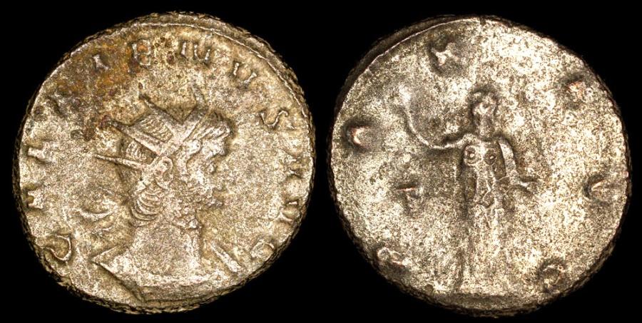 Ancient Coins - Gallienus Antoninianus - PAX AVG - Milan Mint