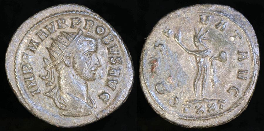 Ancient Coins - Probus Antoninianus - CONSERVAT AVG - Ticinum Mint