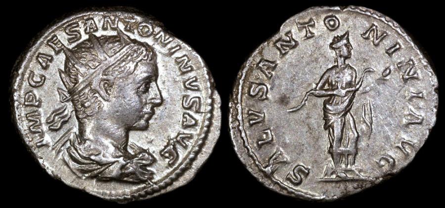 Ancient Coins - Elagabalus Antoninianus - SALVS ANTONINI AVG - Rome Mint