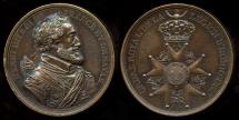 World Coins - 1820  France - King Henri IV Legion of Honor Commemorative Medal by Baron de Puymaurin and Jean-Pierre Droz